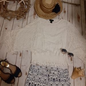 Petite Investments Lacy Boho Top
